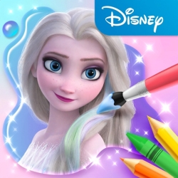 لوگو Disney Colouring World| دنیای رنگ امیزی دیزنی