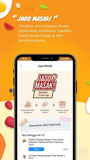 تصاویر Yummy App - Resep Masakan