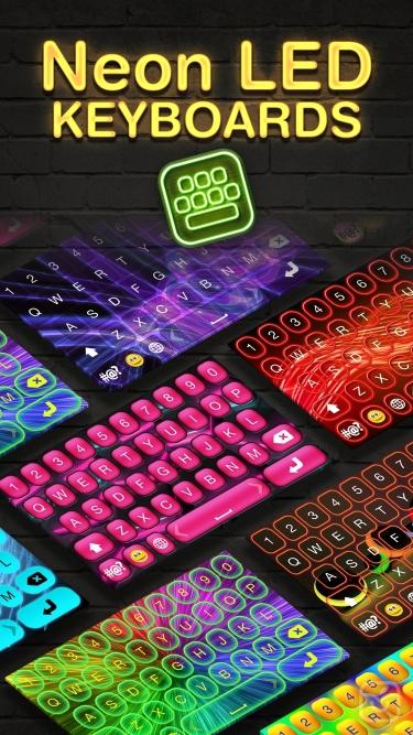 تصاویر Neon LED Keyboard – Glow Keyboards for iPhone with Colorful Themes and Fonts