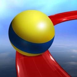 لوگو Crazy Rolling Ball. Red Bouncing Pop Ball In Sky Adventure