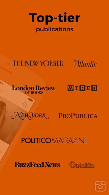 تصاویر Audm - New Yorker, Atlantic