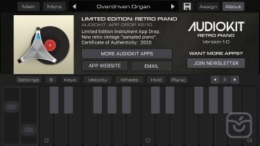 تصاویر LE02 | AudioKit Retro Piano