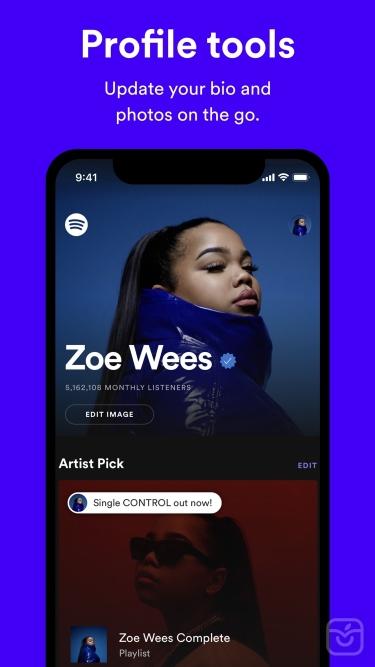 تصاویر Spotify for Artists