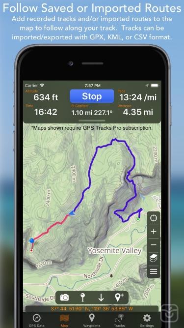 تصاویر GPS Tracks