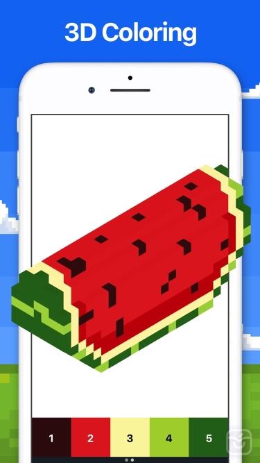 تصاویر Pixel Art - Color by Number