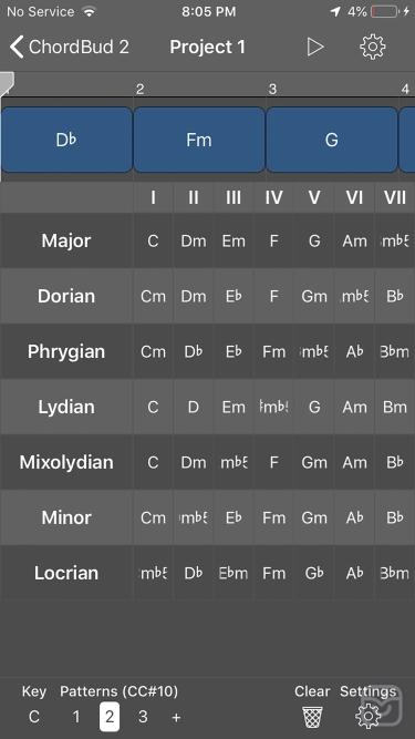 تصاویر ChordBud 2 AUv3 MIDI Sequencer