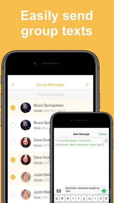 تصاویر Contact Groups - Text & Email