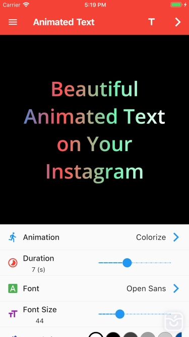 تصاویر Animated Text for Instagram