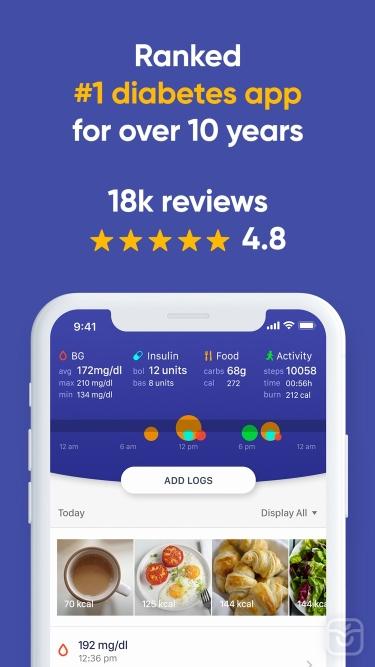 تصاویر Glucose Buddy Diabetes Tracker