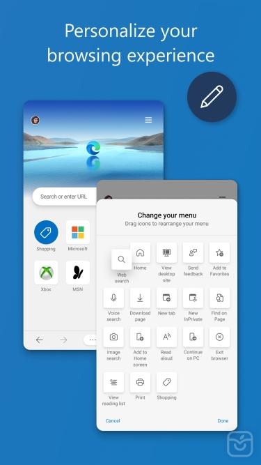 تصاویر Microsoft Edge