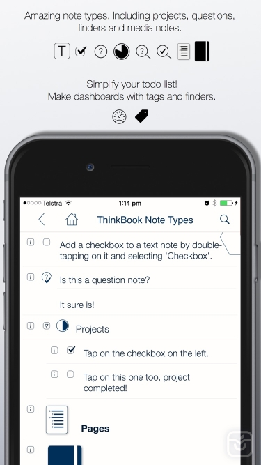 تصاویر ThinkBook - Todos, Notes, Projects, Outlines