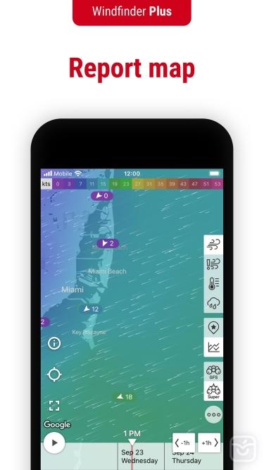 تصاویر Windfinder Pro: Wind & Weather