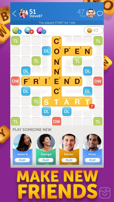 تصاویر Words With Friends 2 Word Game ساخت کلمات