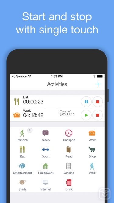 تصاویر aTimeLogger Personal Tracker