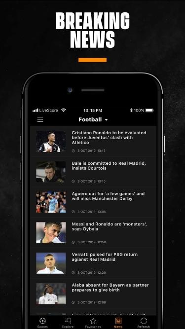 تصاویر  ++ LiveScore: Live Sports Scores