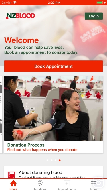 تصاویر NZ Blood Service Donor App