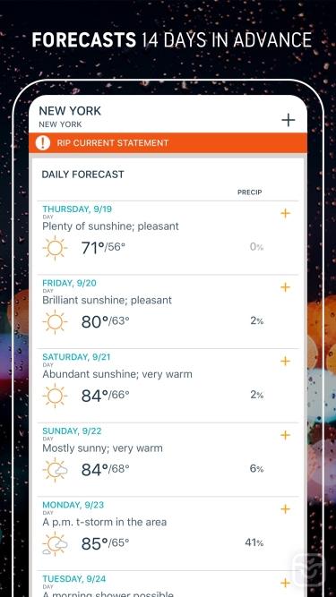 تصاویر AccuWeather: Weather Tracker ++