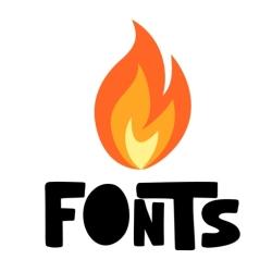 لوگو Fire Fonts   Fonts for iPhones