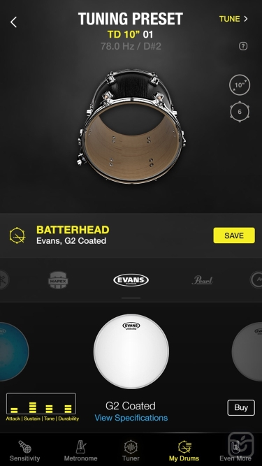 تصاویر Drumtune PRO | Drum Tuner