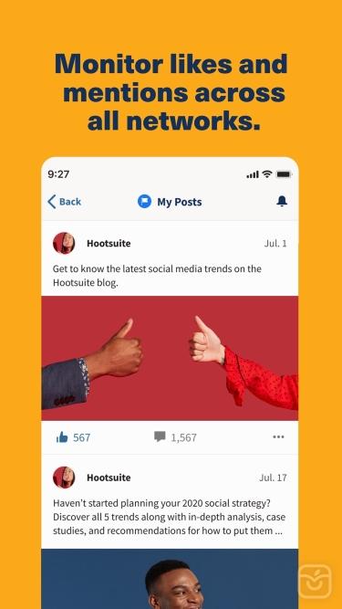 تصاویر Hootsuite - Social Media Tools