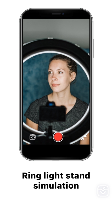تصاویر Ring Light Cam – night selfie