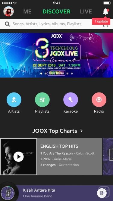 تصاویر JOOX Premium