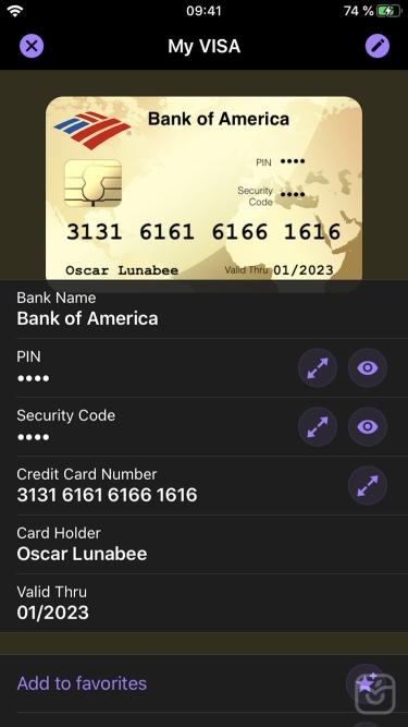 تصاویر oneSafe+ password manager