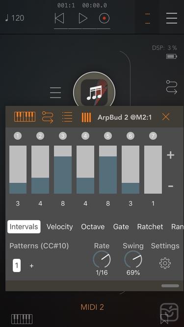 تصاویر ArpBud 2 AUv3 MIDI Arpeggiator