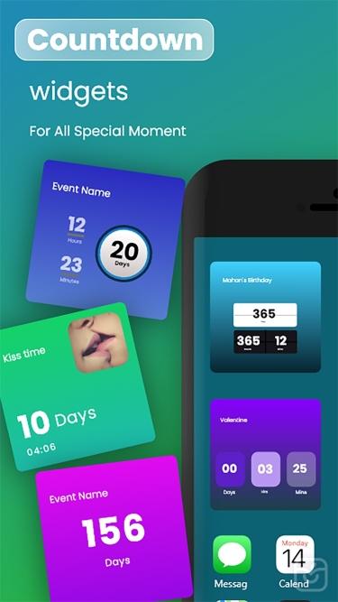 تصاویر iCountDownt : planner,widget