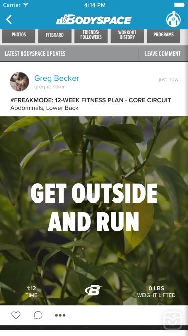 تصاویر BodySpace - Social Fitness App