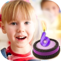 لوگو Happy birthday candle