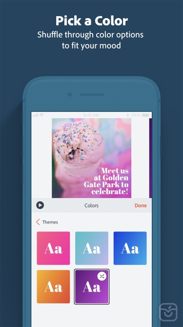 تصاویر Adobe Spark Video