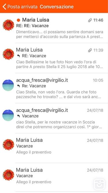تصاویر Virgilio Mail - Email App