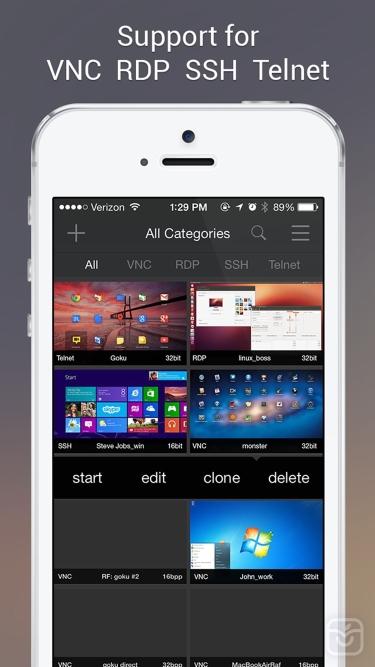 تصاویر Remoter VNC - Remote Desktop