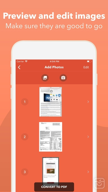 تصاویر Photos PDF : Scanner Converter