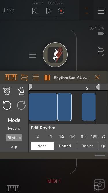 تصاویر RhythmBud - AUv3 MIDI FX