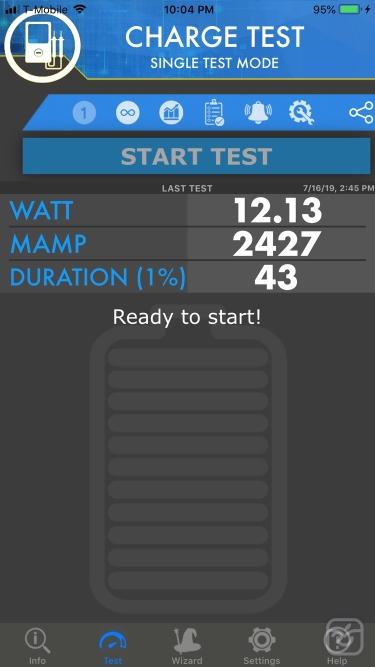 تصاویر Amperes - battery charge info