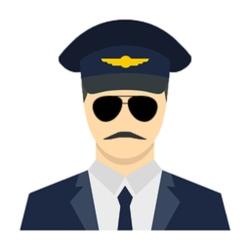 لوگو  کاپیتان پرواز   captain flight