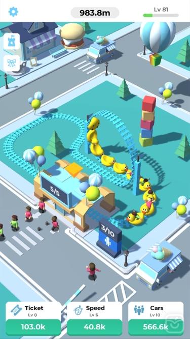 تصاویر Idle Roller Coaster