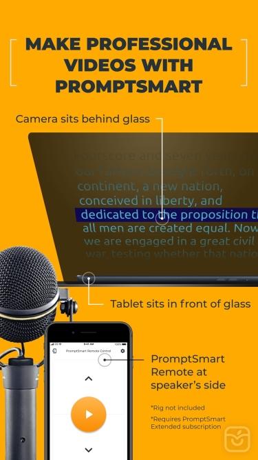 تصاویر PromptSmart Pro - Teleprompter