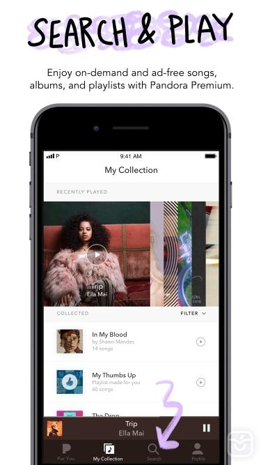 تصاویر ++ Pandora: Music & Podcasts