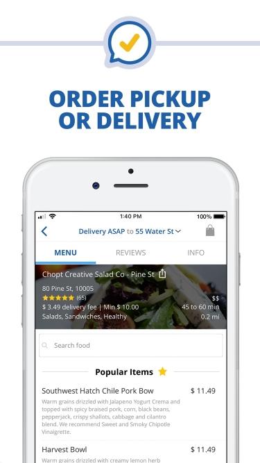تصاویر delivery.com Food & Liquor App