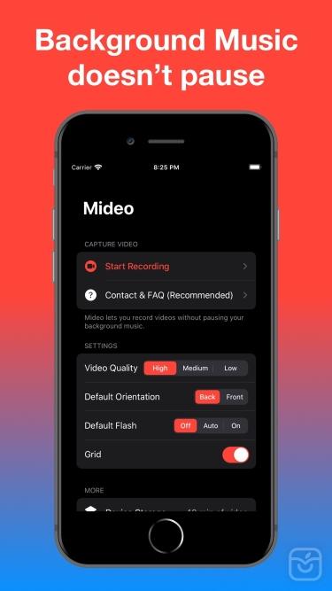 تصاویر Mideo: Record Video With Music