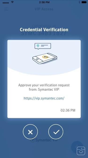 تصاویر VIP Access for iPhone