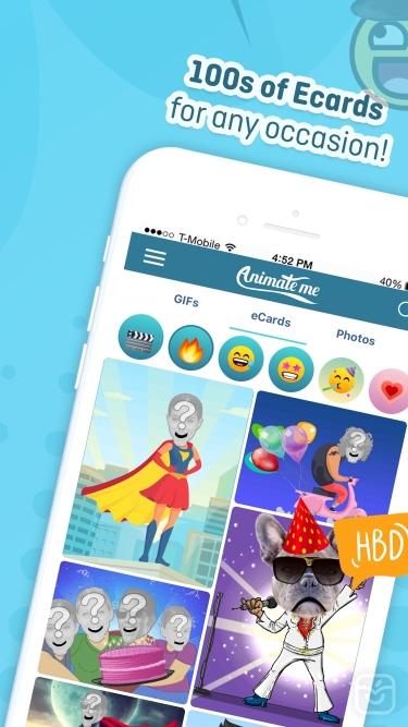 تصاویر Animate Me Pro: GIFs & Ecards